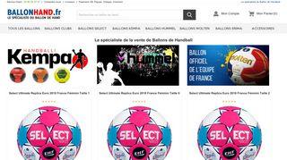 Des ballons de hand de diverses marques sur Ballonhand