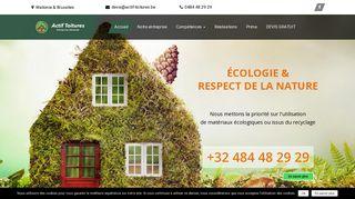 Réalisation de toitures écologiques en Belgique