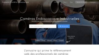 Inspection par caméra endoscope industriel souple