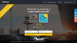 Allopark,guide pour trouver un parking près du brussels airport