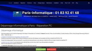 Dépannage informatique à Paris à domicile