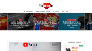 Tubeurs, le site web sur YouTube