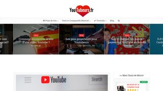 Tubeurs, le site web sur YouTube