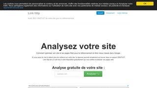 Link http Audit SEO de site ou celui d'un client