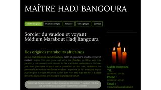 Hadj Bangoura, l'expert des sciences occultes