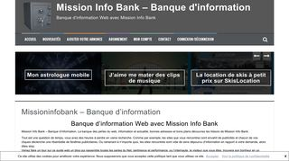 Banque d'information Web avec le blog Mission Info Bank