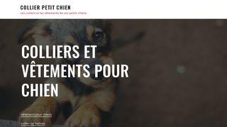 Articles tendance et mode pour votre petit chien