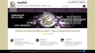 Cnathalie : la création site web en PACA Antibes Nice Cannes accessible à tous