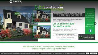 Constructeur maison individuelle DBL Constructions