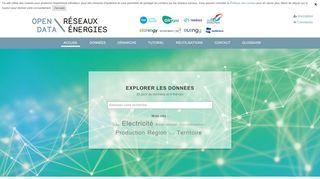 Open Data Réseaux Énergies : plateforme de données multi-énergies