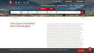 Nouvelle agence immobilière à Aix les Bains