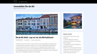 Taxe sur les logements vacants sur l'île de Ré