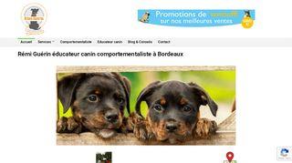 Rémi Guérin éducateur canin à Bordeaux