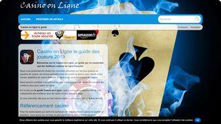 Casino on Ligne annuaire et guide web de casino en ligne