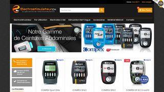 Vente en ligne d'appareils d'électrostimulation