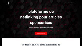 Plateformes de netlinking et d'article sponsorisé