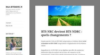 Portail d'information sur le BTS NRC