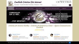 Cnathalie : la création site web en PACA La Ciotat Antibes Nice Cannes accessible à tous