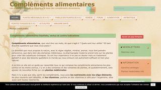 Le plus grand guide web des plantes médicinales