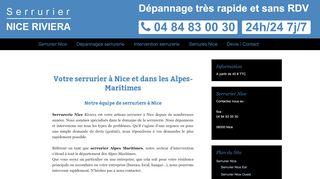 Services de serrurerie à Nice dans le 06