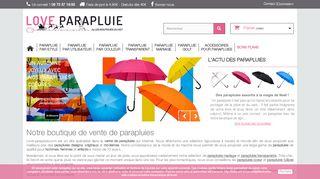 Love parapluie : la boutique en ligne du parapluie