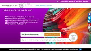 Expert de l'assurance oeuvre d'art en France