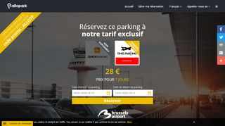 Allopark,guide pour trouver un parking près du brussels airport