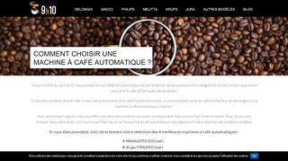 Guide de la machine à café automatique
