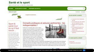 Sport & santé tout ce qu'il faut savoir