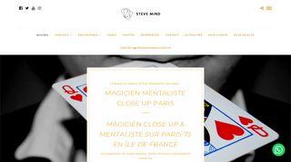 Steve Mind, spécialiste de l'art de magie pour vos événements en Île-de-france