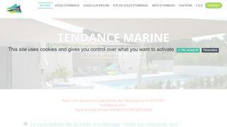 Voiles d'ombrage de Tendance Marine