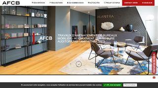 AFCB, aménagement d'espaces professionnels à Paris
