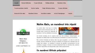 Le marabout Alain, messager du monde invisible
