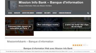 Banque d'information Web avec le blog Mission Info Bank