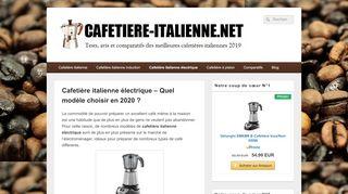 Guide de la cafetière italienne électrique