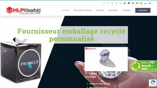 Emballages en plastique transparent recyclable