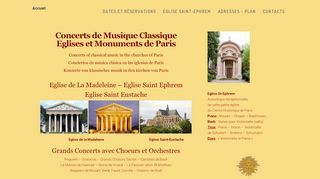 Agenda des concerts de musique classique à Paris